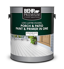 Can of Behr Premium Porch and Patio Paint and Primer